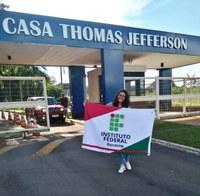 Aluna do IFRR selecionada para o Programa Jovens Embaixadores viaja para os Estados Unidos