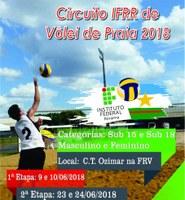 ESPORTE – Circuito Vôlei de Praia do IFRR está com inscrições abertas