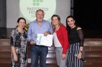 Ex-reitor do IFRR é homenageado durante o primeiro Ciclo de Palestras Acadêmicas 2018