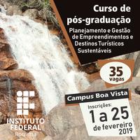 IFRR oferta pós-graduação na área de Turismo
