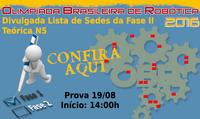 OLIMPÍADA BRASILEIRA DE ROBÓTICA –  Alunos participam, nesta sexta-feira, dia 19, da segunda prova teórica