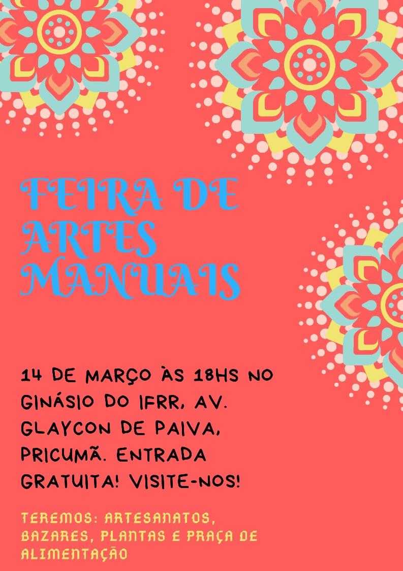 Segunda edição da Feira de Artes Manuais ocorre nesta quinta, a partir das 18 horas