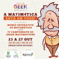 Semana da Matemática começa nesta segunda-feira, dia 23, no Pátio Roraima Shopping