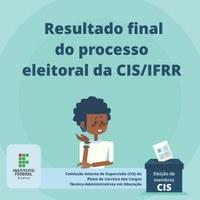 CIS – Disponível resultado final das eleições