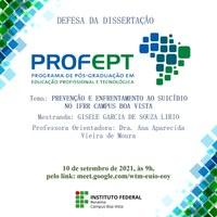 SETEMBRO AMARELO – Pesquisa de mestrado do IFRR apresenta estudo sobre prevenção e enfrentamento ao suicídio